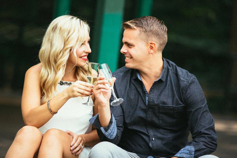 Scott and Patrica Drinking Wine at Wedding - Shot by Jamieson Dean Wedding Photographer in Toronto